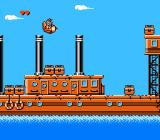 Disney's TaleSpin NES Flying over a ship