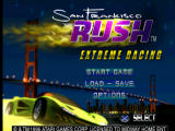 San Francisco Rush: Extreme Racing PlayStation Title screen / Main menu.