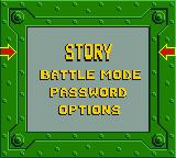 BattleTanx Game Boy Color Main menu.