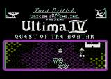 Ultima IV: Quest of the Avatar Atari 8-bit Title Screen