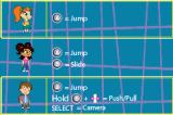 Atomic Betty Game Boy Advance Controls for the 3 kids