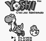 Yoshi Game Boy Title screen.