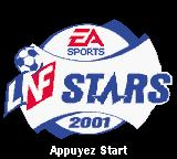 The F.A. Premier League Stars 2001  Game Boy Color Title Screen (French)