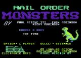 Mail Order Monsters Atari 8-bit Title Screen