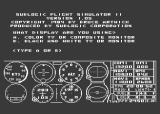 Flight Simulator II Atari 8-bit Title Screen