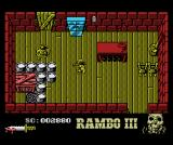 Rambo III MSX Rambo's head turns into a cranium as your health decreases