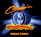 Cruis'n Exotica Game Boy Color Title screen.
