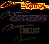 Cruis'n Exotica Game Boy Color Main menu.