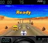Cruis'n Exotica Game Boy Color Starting the race.