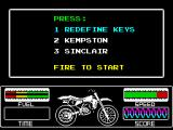 Motorbike Madness ZX Spectrum Main menu