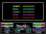 Motorbike Madness ZX Spectrum High scores