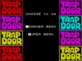 The Trap Door ZX Spectrum The two game modes