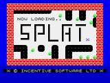 Splat! ZX Spectrum Title screen