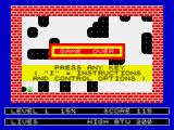 Splat! ZX Spectrum Game over
