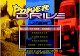 Power Drive Genesis Main menu