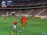FIFA 2001 Windows Gameplay Shot: A Free Shot on Goal.