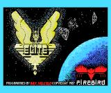 Elite MSX Loading screen