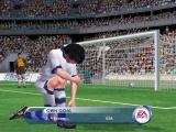 FIFA 2001 Windows Loose balls by your goal can result in mistakes such as this.