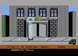 Ghostbusters Atari 8-bit A Slimer narrowly escapes the trap
