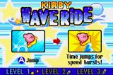 Kirby & The Amazing Mirror Game Boy Advance Kirby Wave Ride: Instructions