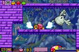 Kirby & The Amazing Mirror Game Boy Advance When swallowing certain enemies, Kirby can copy their abilities.  Here, Kirby's using his stone ability to crush the Golem
