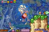 Kirby & The Amazing Mirror Game Boy Advance Missile ability: Kirby can turn into a missile and fly around seeking out his enemies and blowing them up.