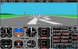 Flight Simulator II Atari ST On the ground at Meig's field