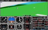 Flight Simulator II Atari ST side wing view