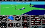 Flight Simulator II Atari ST another spotter plane view