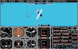Flight Simulator II Atari ST Tracking view of aircraft in a dive