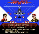Airwolf NES Title Screen