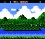 Airwolf NES Airwolf flies over waves of enemy helicopters