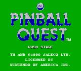 Pinball Quest NES Title Screen
