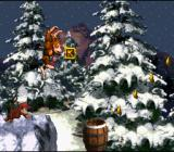 Donkey Kong Country SNES The snow levels feature beautiful background graphics