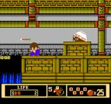 Jackie Chan's Action Kung Fu NES An armored enemy fires arrows