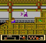 Jackie Chan's Action Kung Fu NES Enemy ninja approaches with scythe