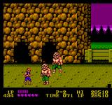 Double Dragon NES Abobos like to smash through walls.
