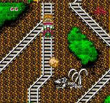 Disney Adventures in the Magic Kingdom NES Choices of track on the Matterhorn Railroad