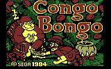 Congo Bongo PC Booter Title screen