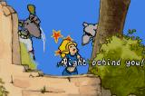 Lady Sia Game Boy Advance Intro: Sia storms out to find the T'soas...but they ended up finding her first and locks her in a dungeon.