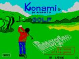 Konami's Golf ZX Spectrum Loading screen