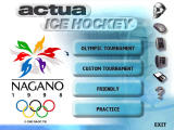 Actua Ice Hockey Windows Main menu