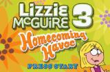 Lizzie McGuire 3: Homecoming Havoc Game Boy Advance Title screen