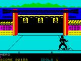 Ninja ZX Spectrum Backgrounds vary as you walk on through