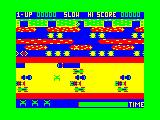 Frogger TRS-80 CoCo The official Frogger only used 128x96x4 graphics on the Coco...