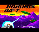 Koronis Rift TRS-80 CoCo Koronis Rift splash screen