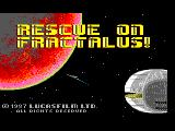 Rescue on Fractalus! TRS-80 CoCo Intro screen