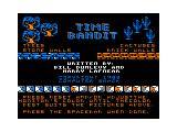 Time Bandit TRS-80 CoCo Intro/credits screen