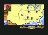 North & South Commodore 64 The map screen