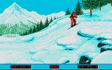 Winter Challenge: World Class Competition Atari ST Biathlon: well drawn countryside